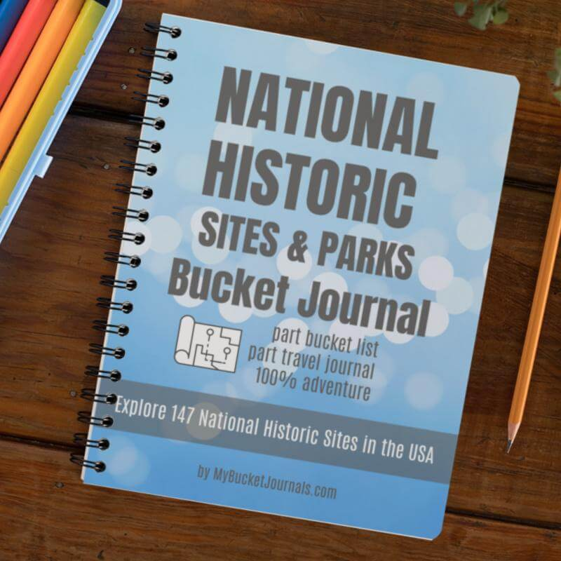National Historic Sites & Parks Bucket Journal - Spiral