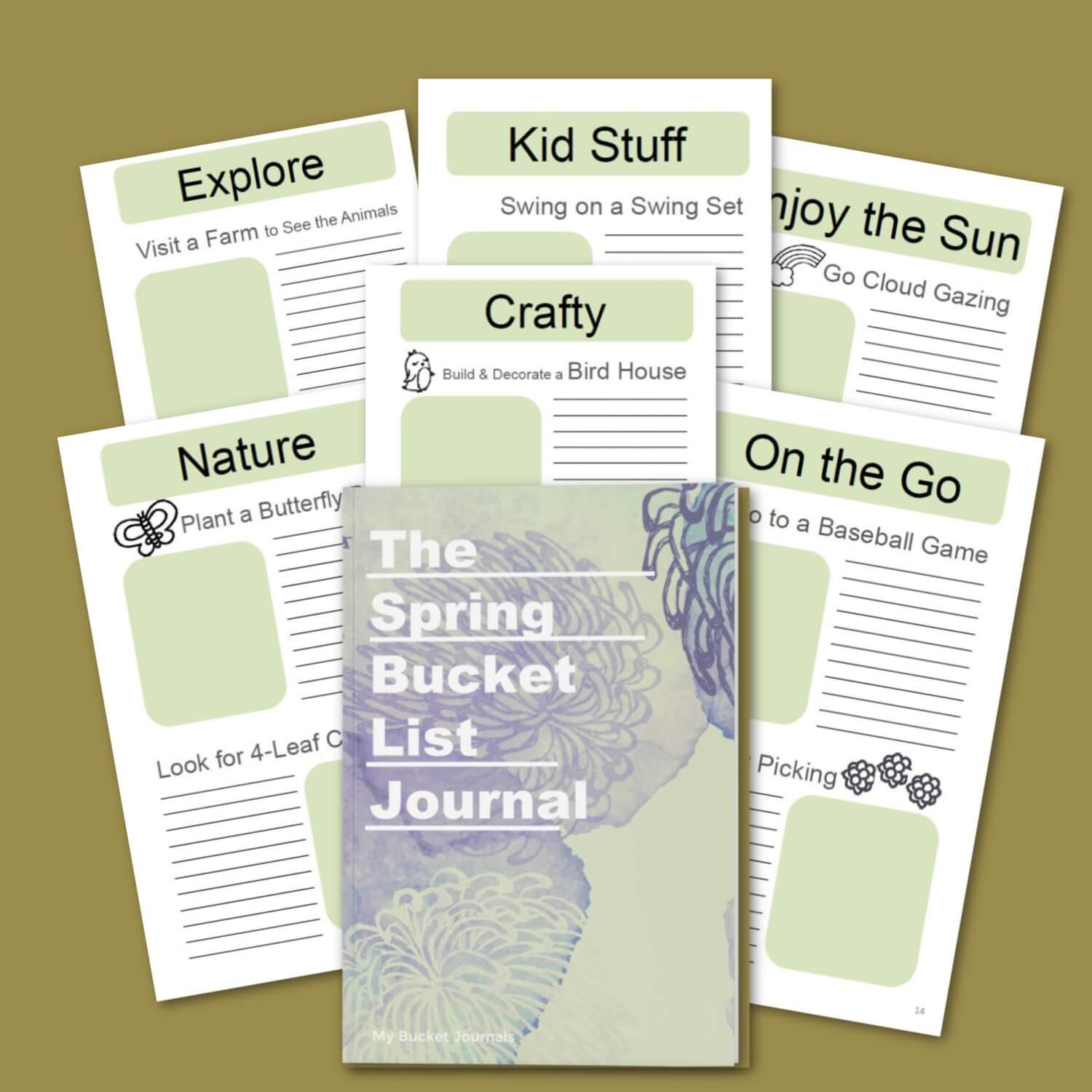Spring Bucket List Journal - DIGITAL