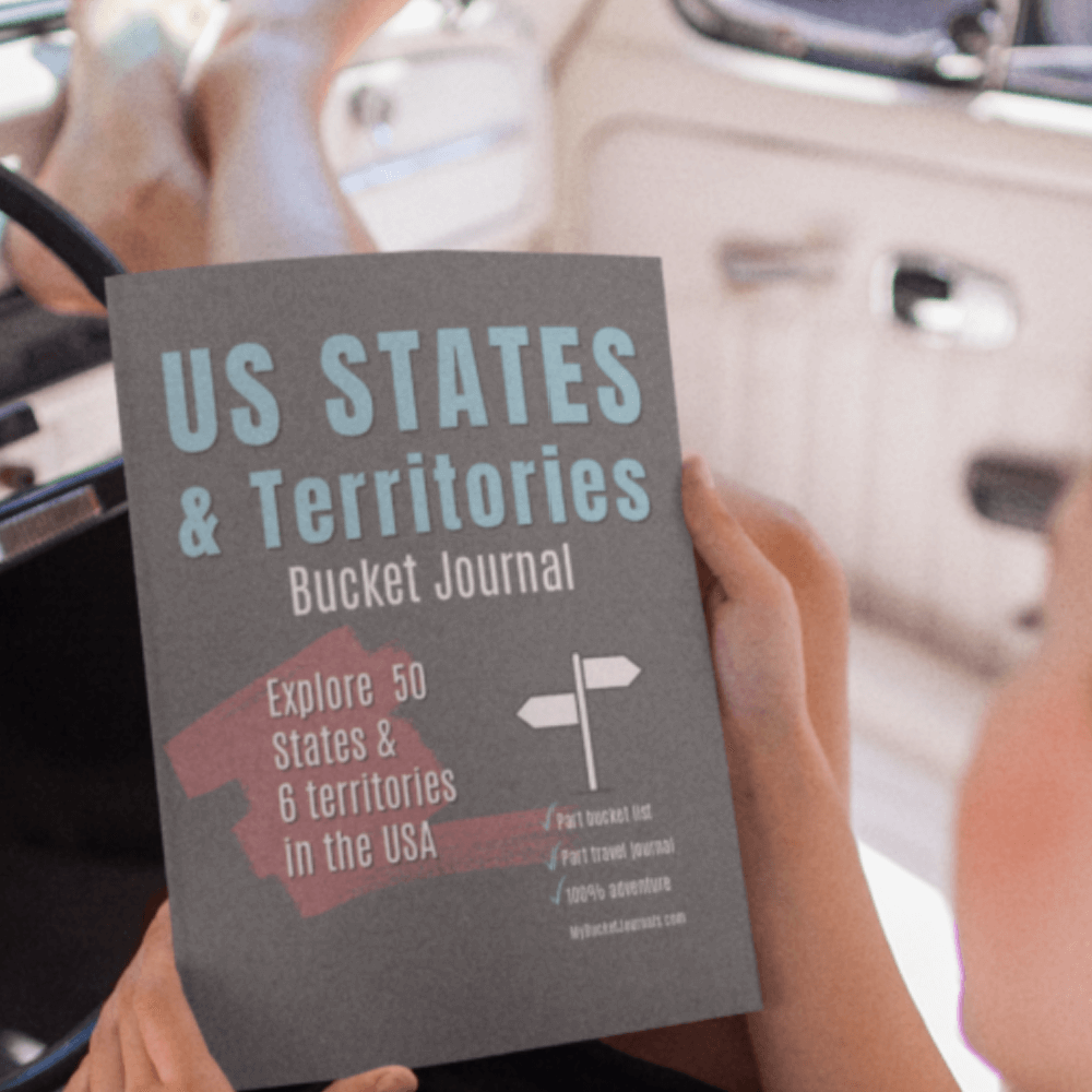US States & Territories Bucket Journal - Paperback