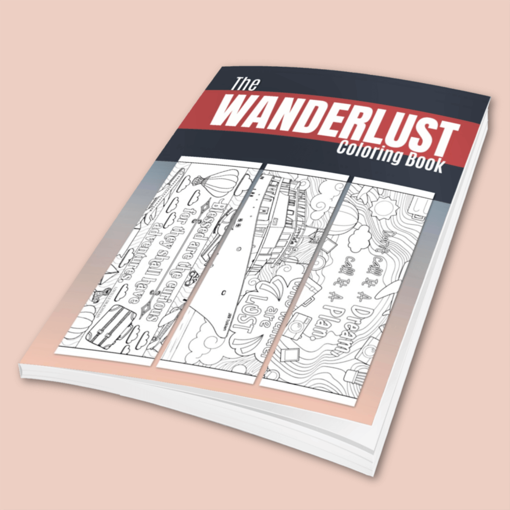 Wanderlust Coloring Book - Digital