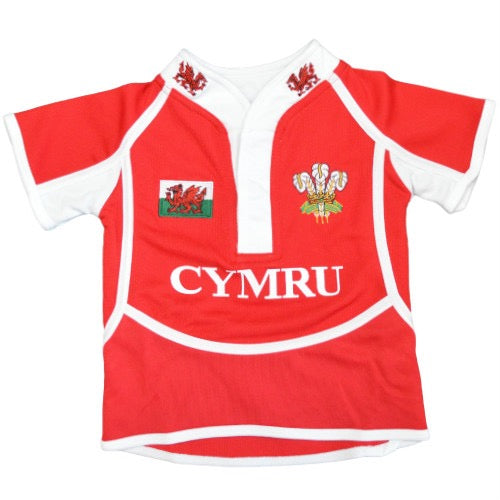 Children's Short Sleeve Wales Rugby Shirt