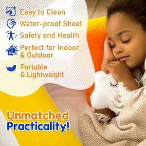 Sleepah Inflatable Toddler Travel Bed With Full Safety Bed Rails Includes Pump Sheet Pillow Amber