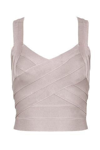 Sexy V-Neck Bandage Top Tank