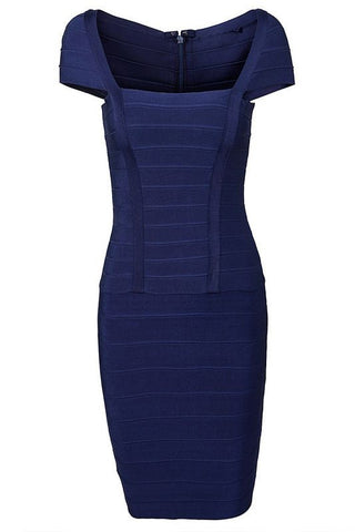 Classy Solid Color Bandage Dress Dresses