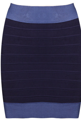BB's Blue Strip Bandage Skirt
