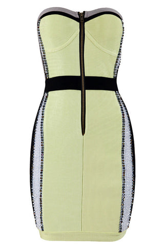 fab's Beaded Sexy Strapless Bandage Dress