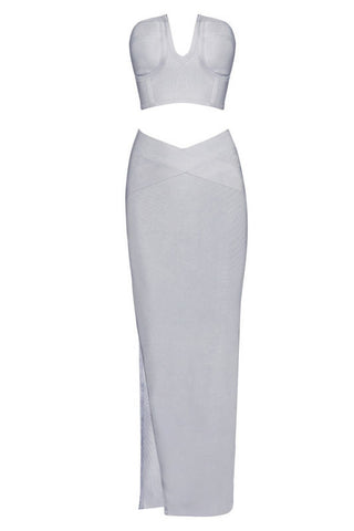 Fab & Gos U-Plunge Strapless Maxi Dress Set Clothing > Dresses