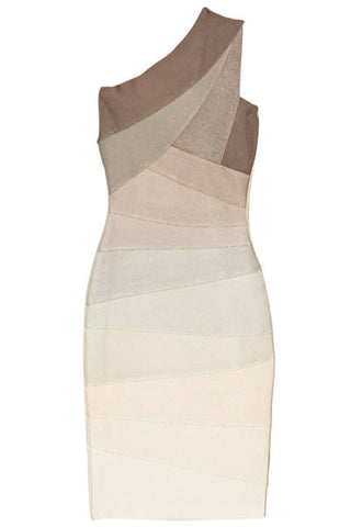 Single Strap Gradient Bandage Dress Dresses