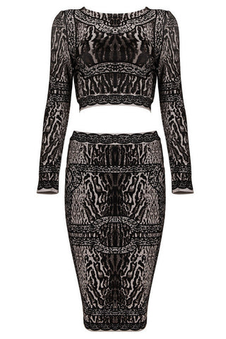 fab's Animal Print Bandage Dress