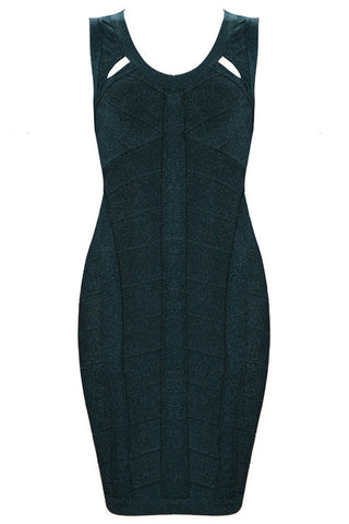 Bottled-Up Black Bandage Dress