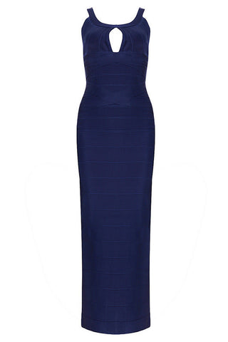 Fab & Gos Blue Strap Gown Bandage Dress Dresses