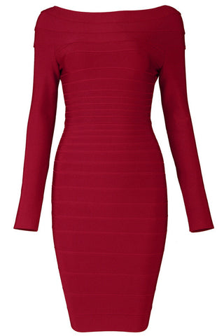 BB's Boat Neck Bandage Dress