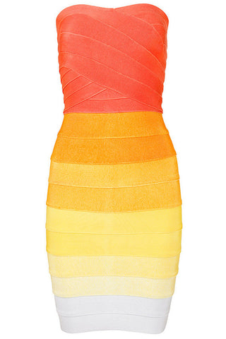Gradient Color Sexy Bandage Dress
