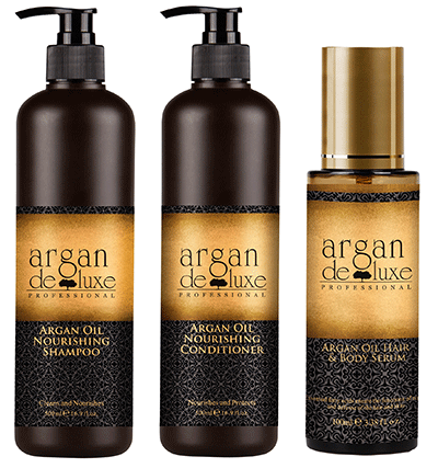 Argan Deluxe Hair Oil Bundle Accessories