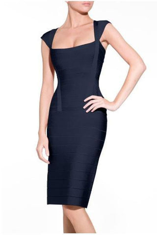 Charlotte Navy Bandage Dress