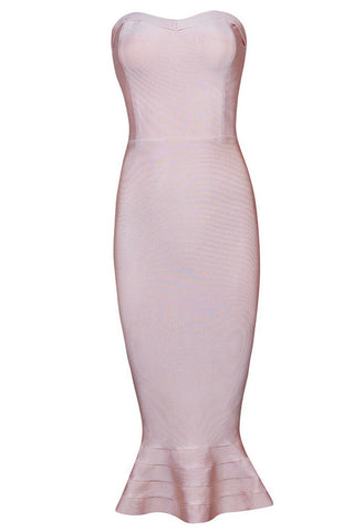 Belinda Nude Bandage Dress