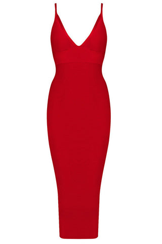 Heidi Red Bandage Dress