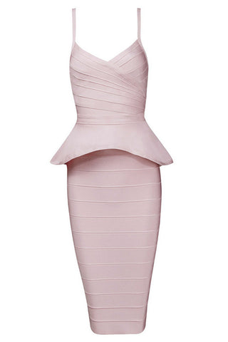 Shawn Apricot Bandage Dress