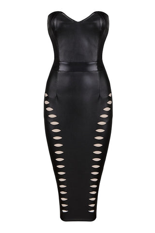 Dolores Black Bandage Dress