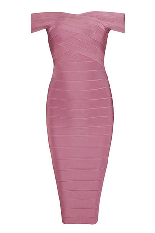 Eleanor Pink Bandage Dress