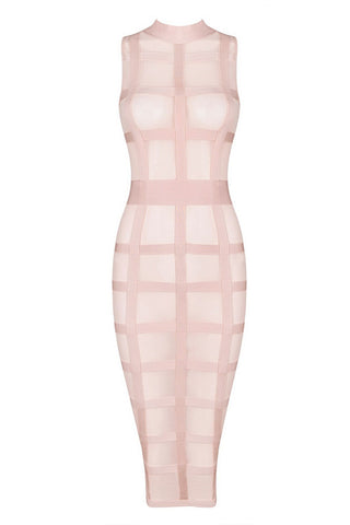 Donna Apricot Bandage Dress