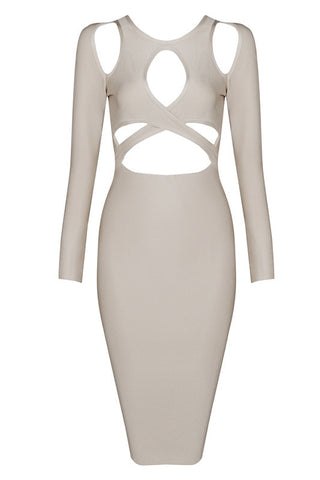 Carolyn Apricot Bandage Dress