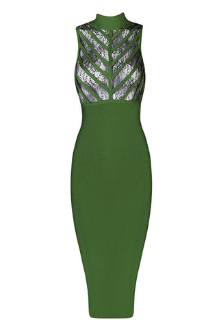 Betty Green Bandage Dress