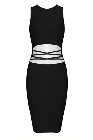 Holly Black Bandage Dress