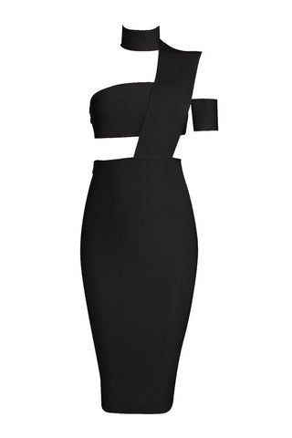 Aida Black Bandage Dress