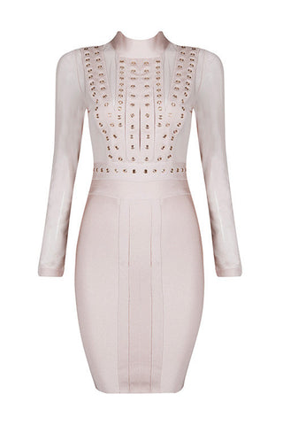 Elisabeth Apricot Bandage Dress