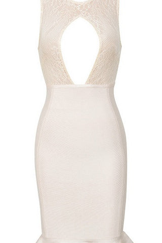 Dianne White Bandage Dress