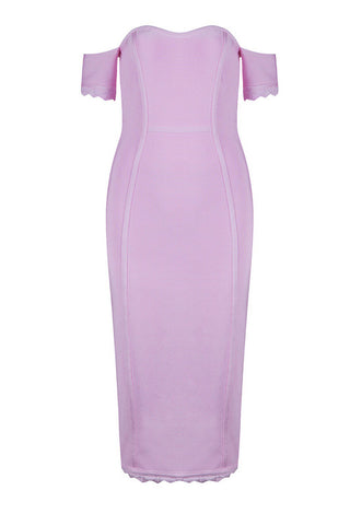 Abby Pink Bandage Dress