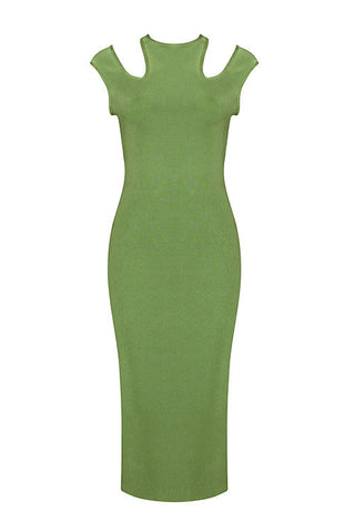 Loraine Green Bandage Dress