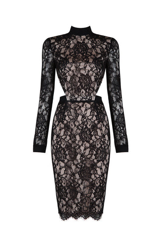 Berta Black Bandage Dress