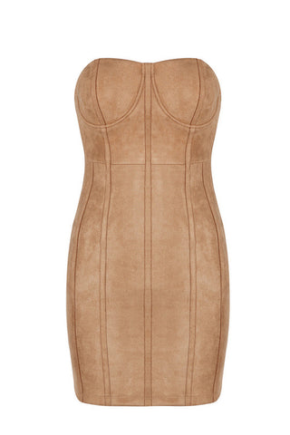 Casandra Khaki Bandage Dress