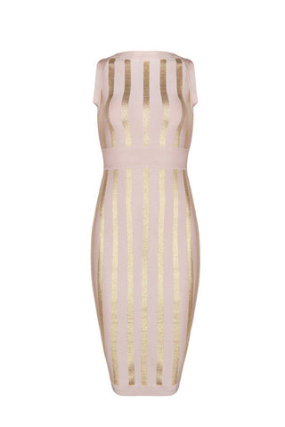 Carey Apricot Bandage Dress