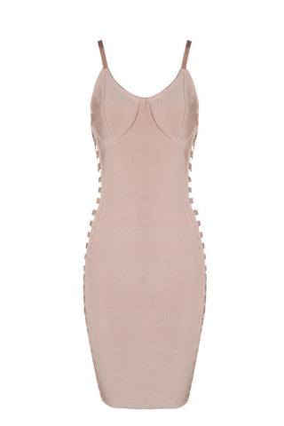 Deidre Apricot Bandage Dress