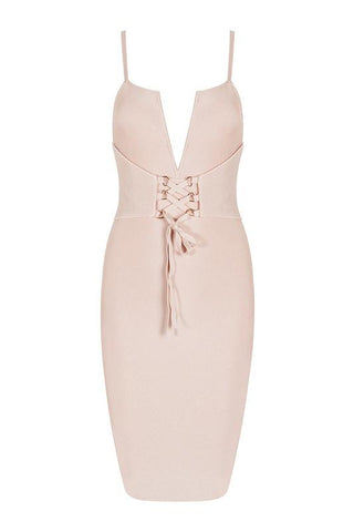 Leonor Apricot Bandage Dress