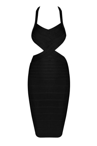 Pearlie Black Bandage Dress