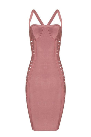 Socorro Pink Bandage Dress