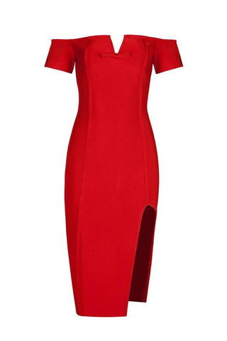 Staci Red Bandage Dress
