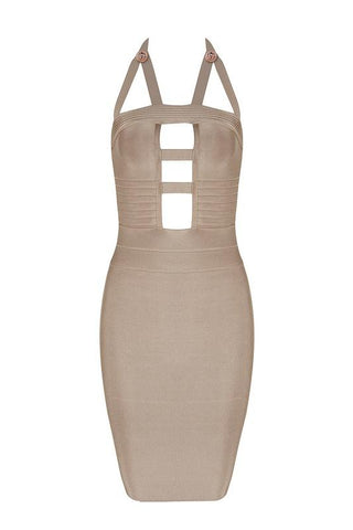 Martina Brown Bandage Dress