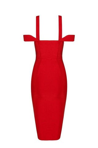 Loraine Red Bandage Dress