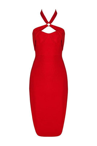 Margret Red Bandage Dress