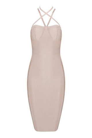 Jimmie Apricot Bandage Dress