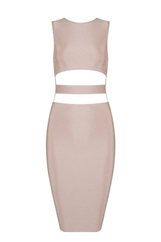 Benita Apricot Bandage Dress