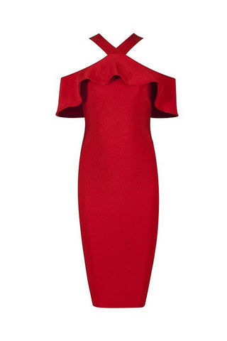 Claudette Red Bandage Dress