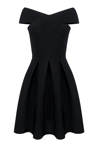 Lidia Black Bandage Dress