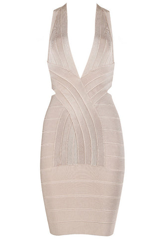 Carrie Apricot Bandage Dress
