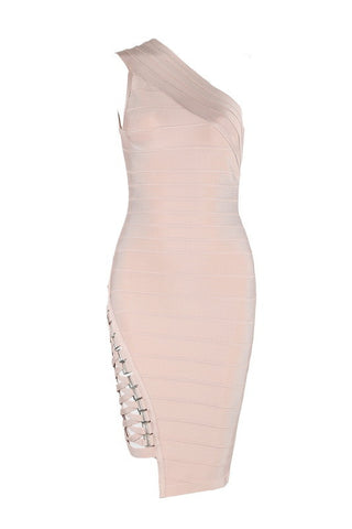 Elnora Nude Bandage Dress